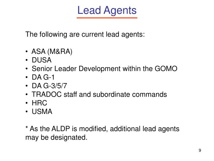 Lead Agents