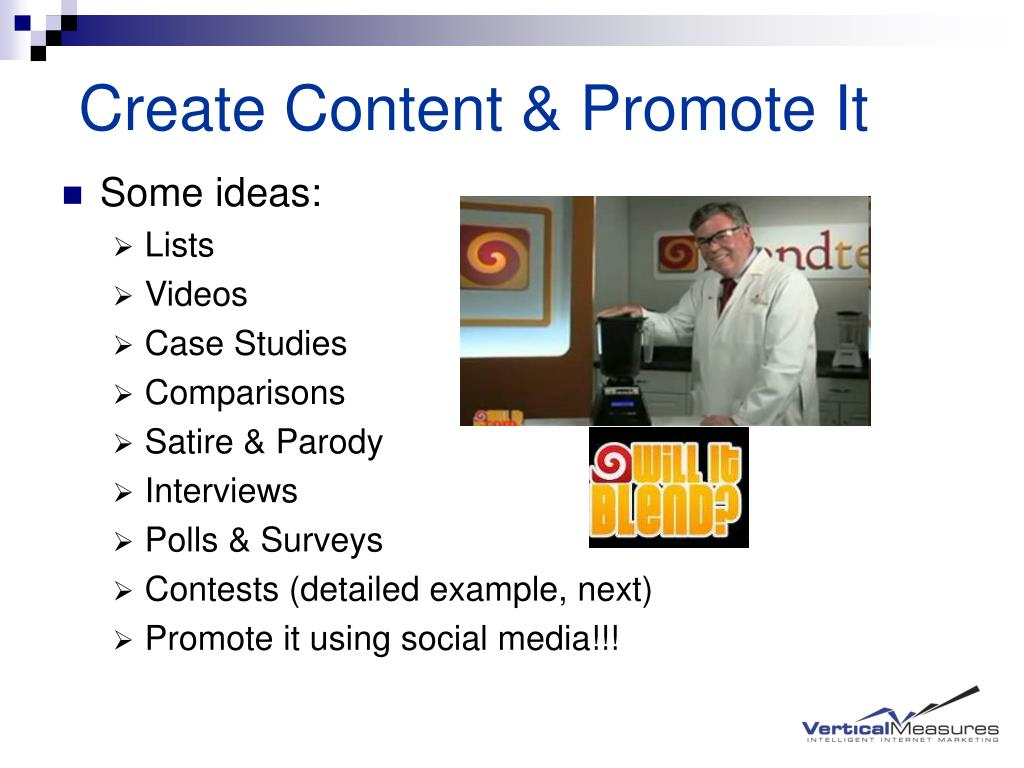 Create Content & Promote It