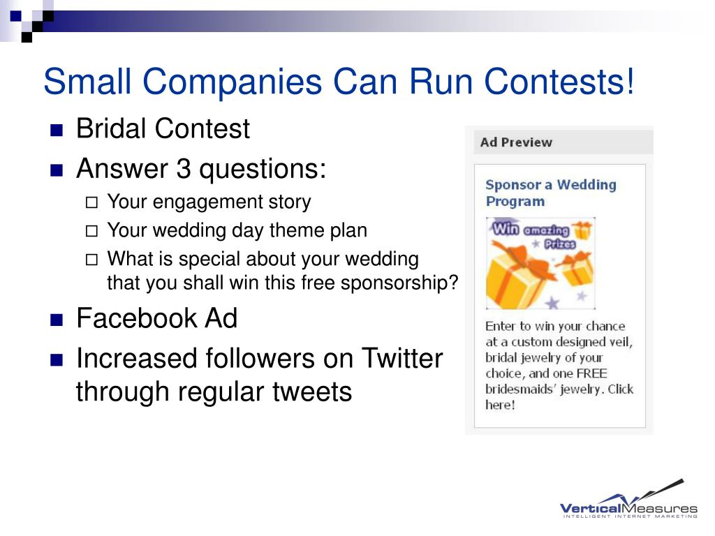 Small Companies Can Run Contests!