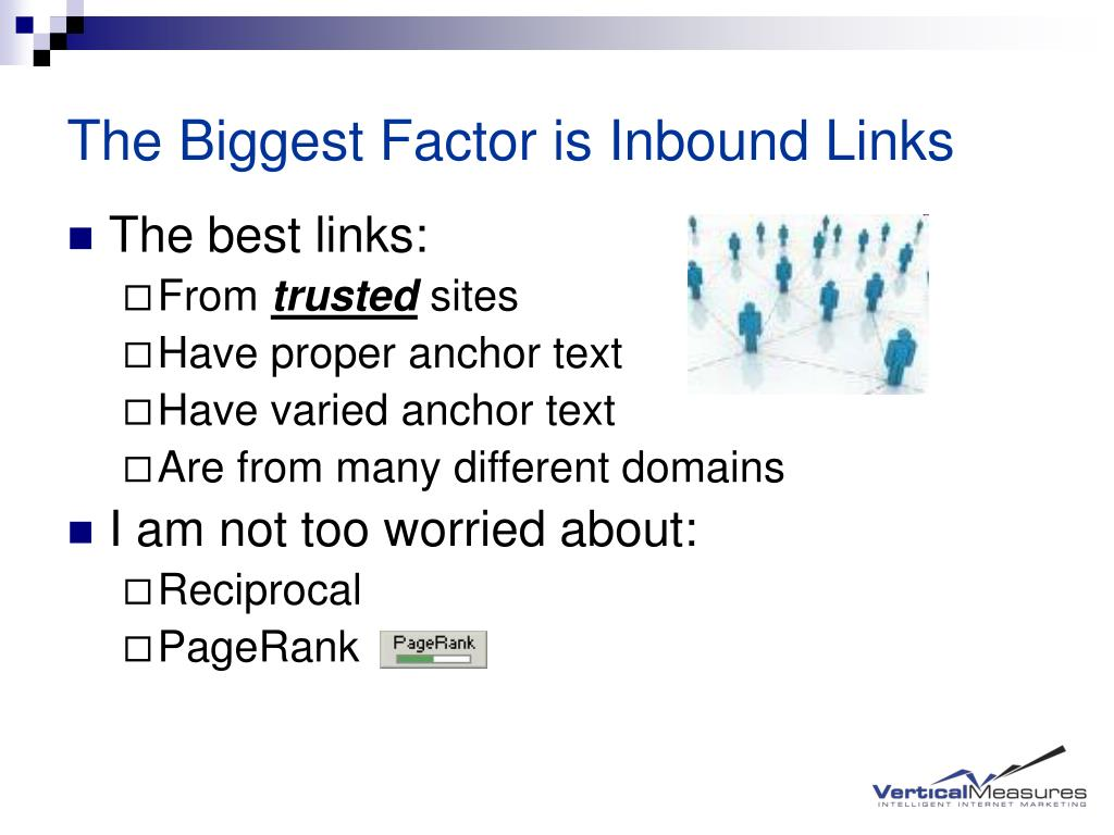 The Biggest Factor is Inbound Links