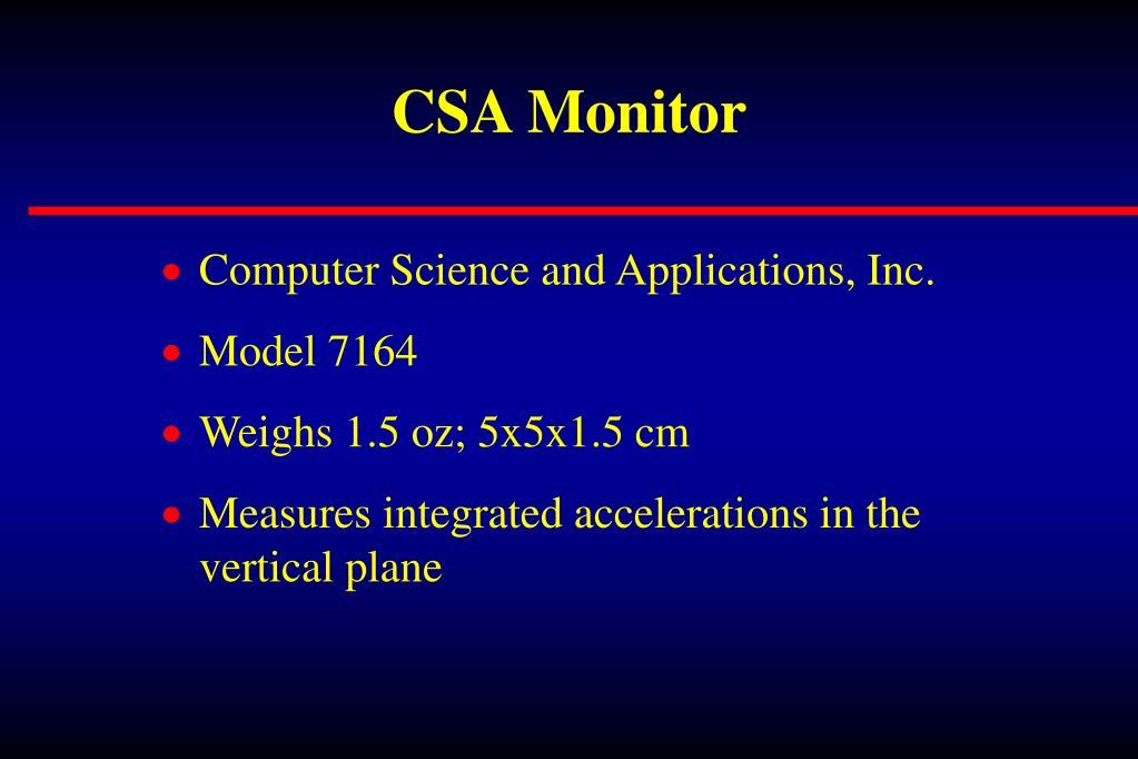 CSA Monitor