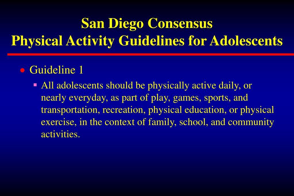 San Diego Consensus