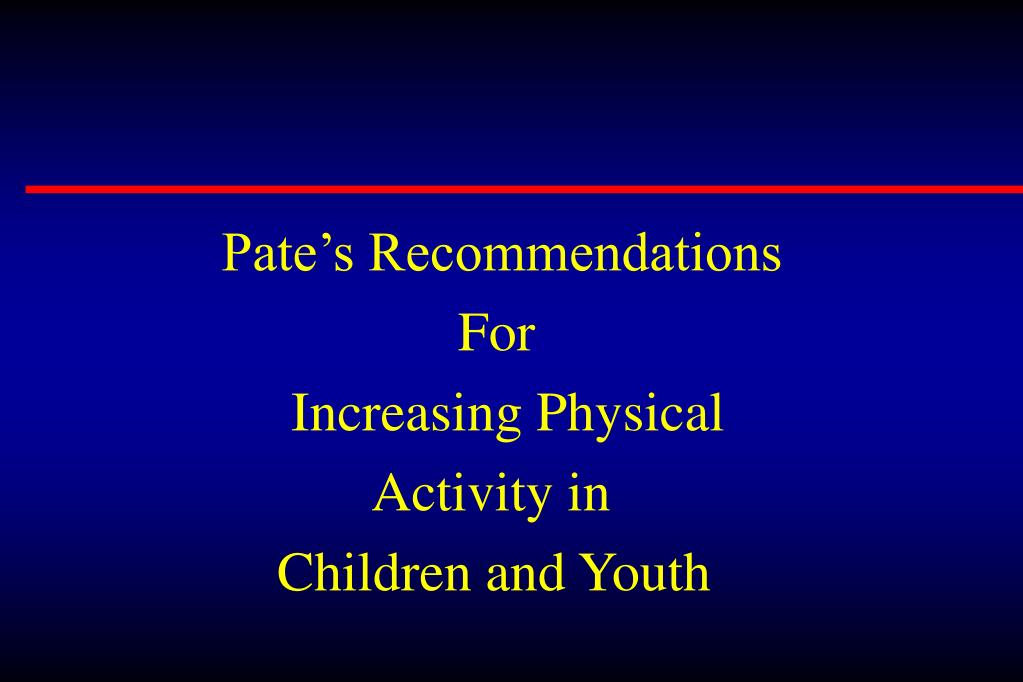 Pate's Recommendations