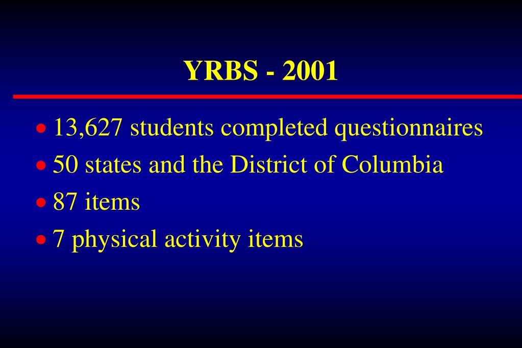 YRBS - 2001