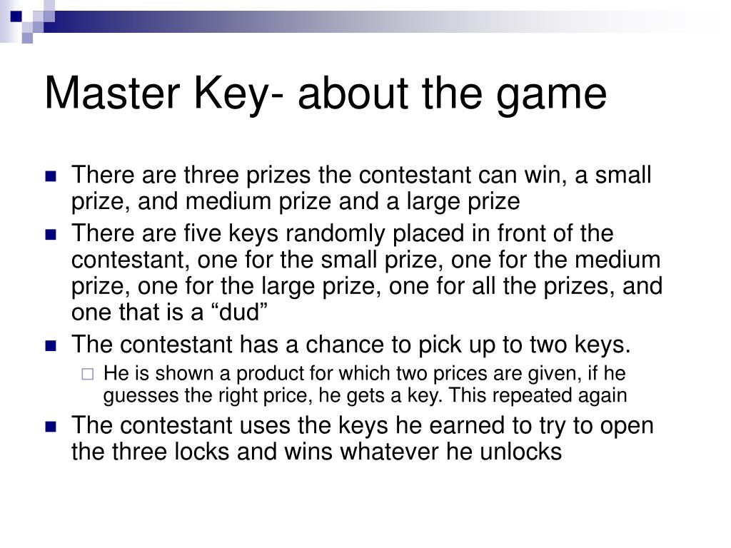 Master Key- about the game