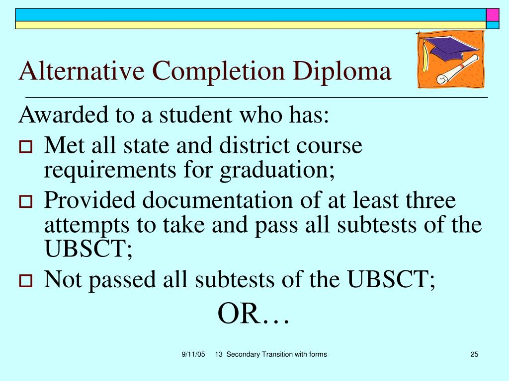 Alternative Completion Diploma