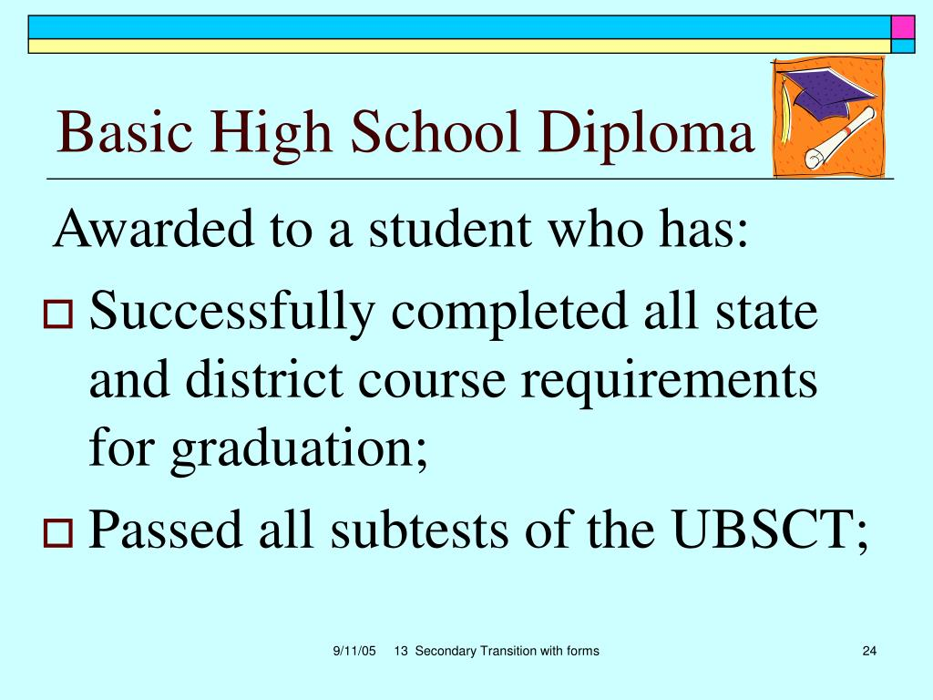 Basic High School Diploma