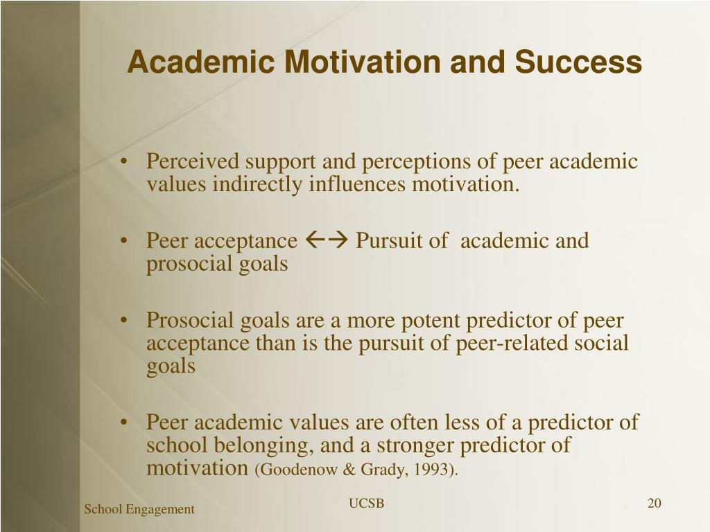 Academic Motivation and Success