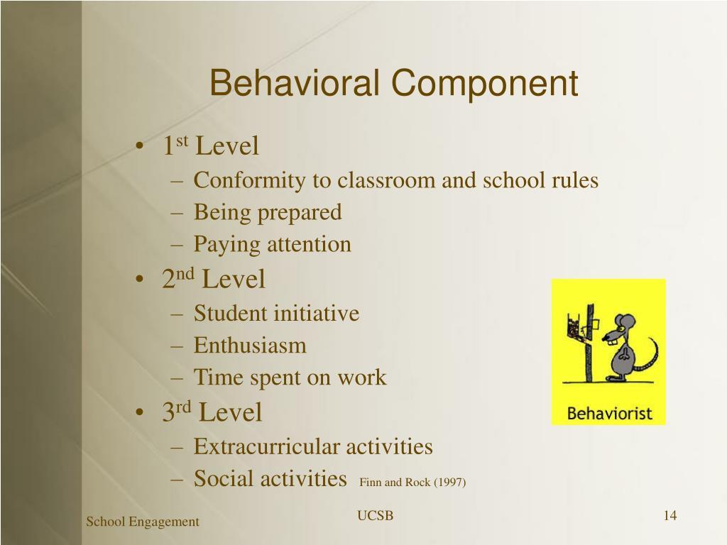 Behavioral Component