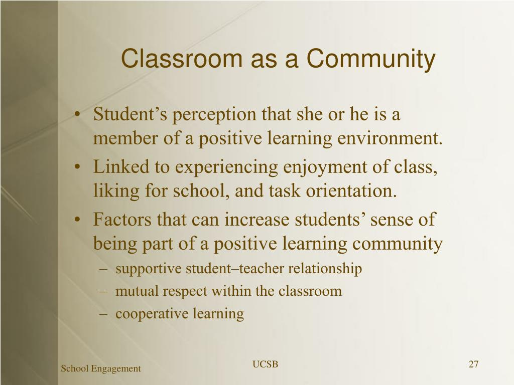 Classroom as a Community