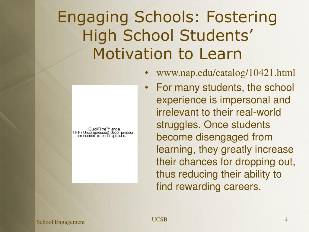 Engaging Schools: Fostering High School Students' Motivation to Learn