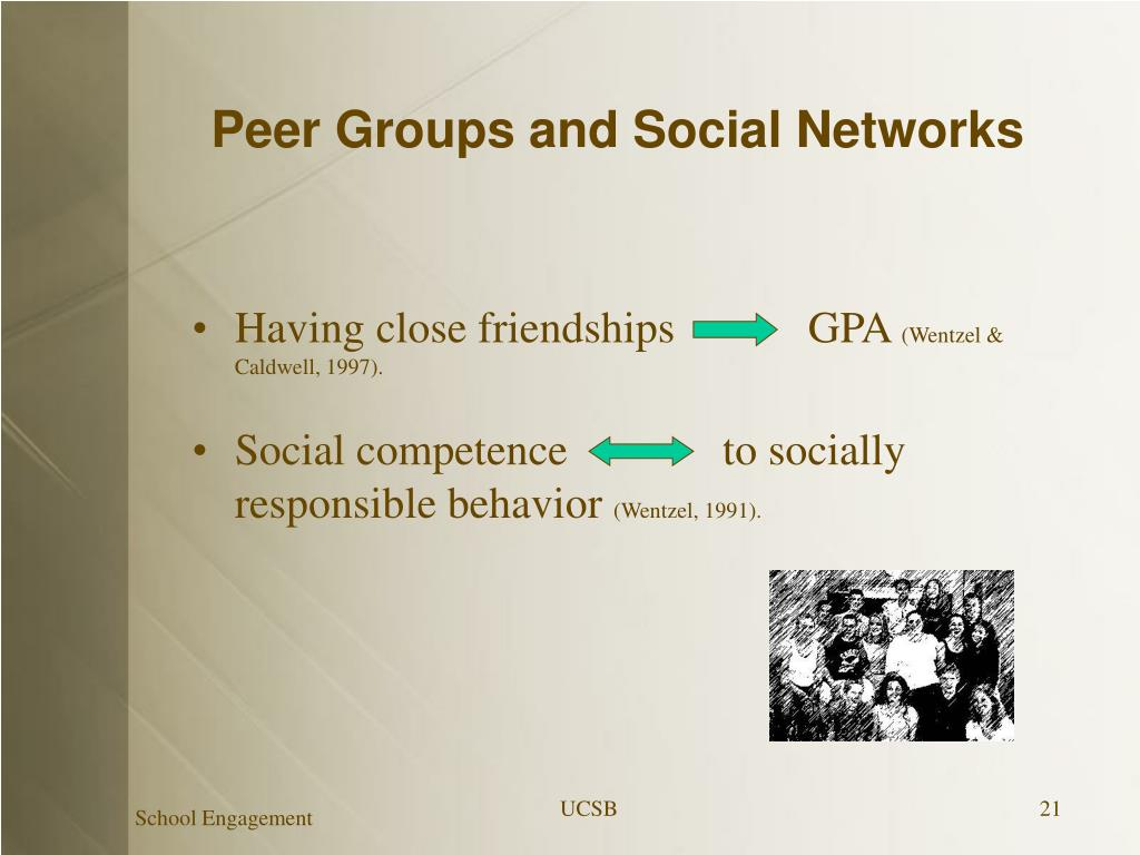Peer Groups and Social Networks