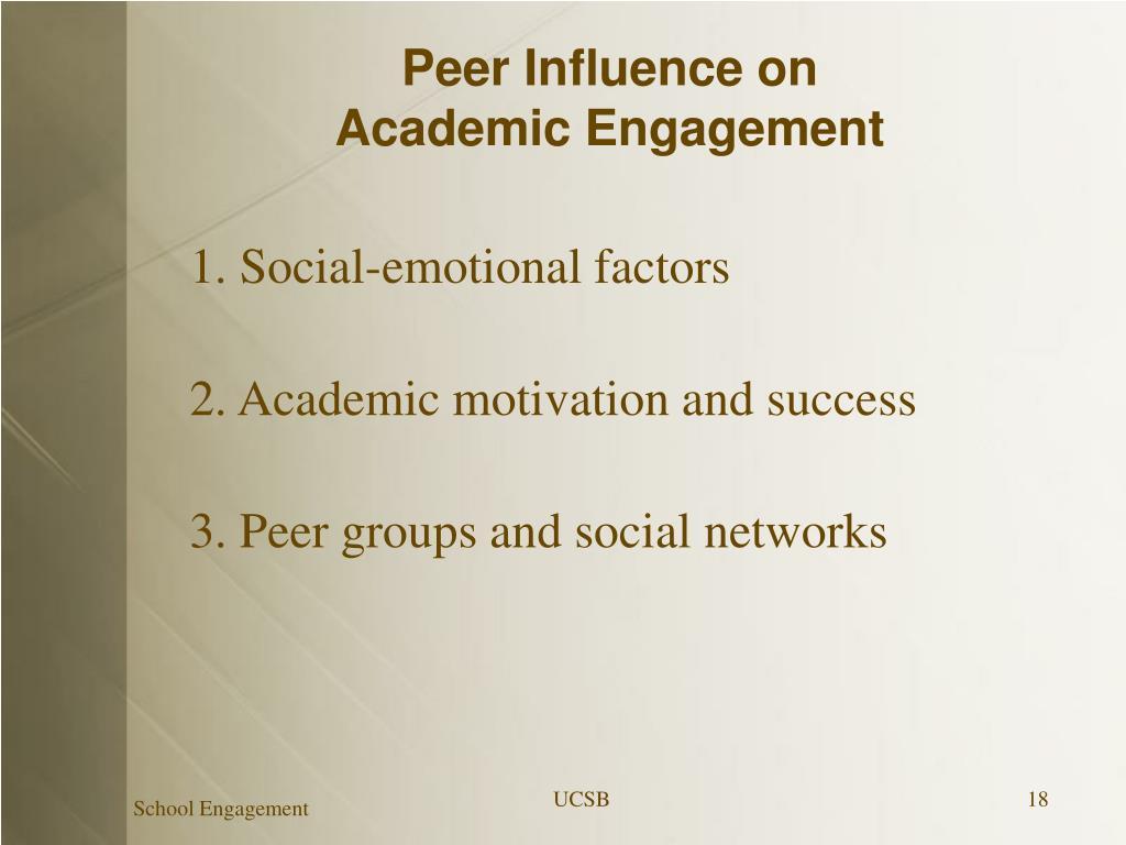 Peer Influence on