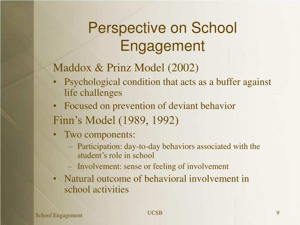 Perspective on School Engagement