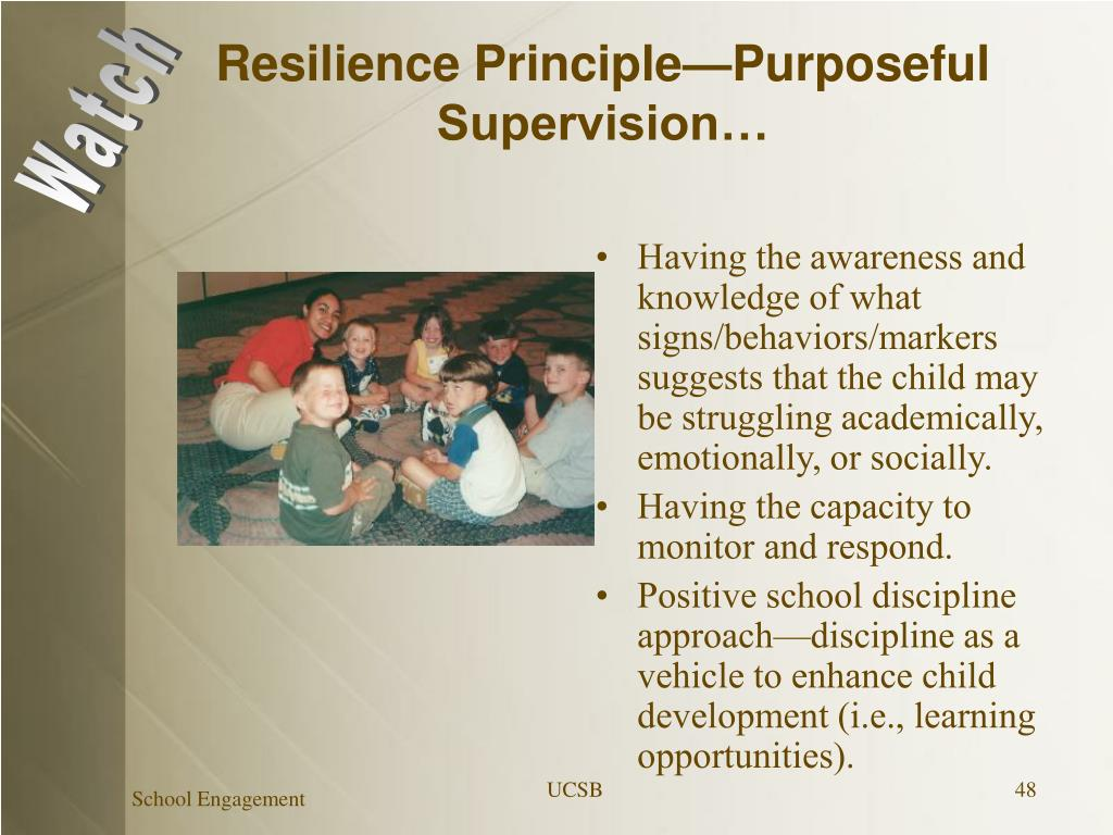 Resilience Principle—Purposeful Supervision…