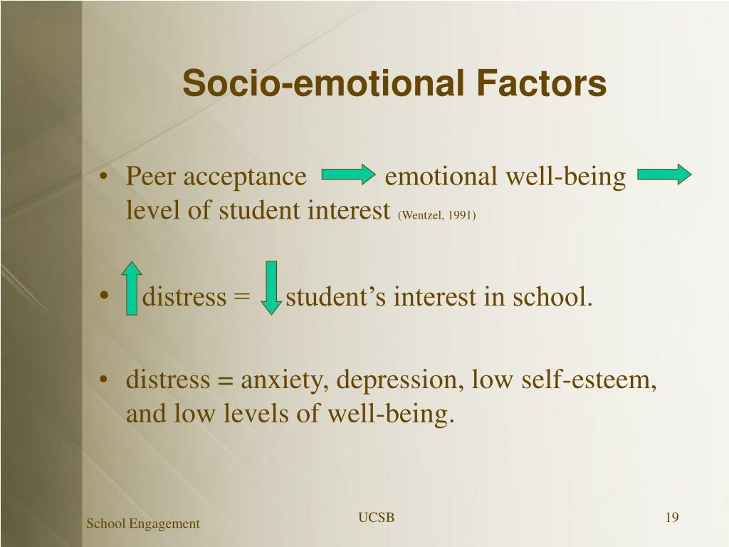 Socio-emotional Factors