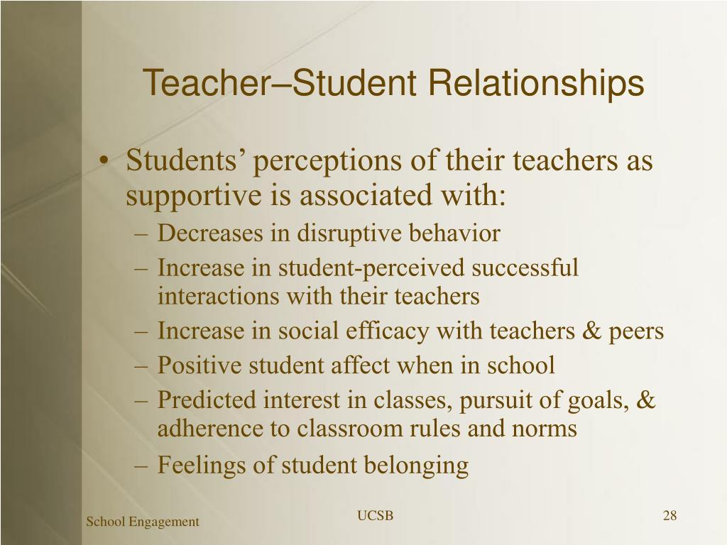 Teacher–Student Relationships