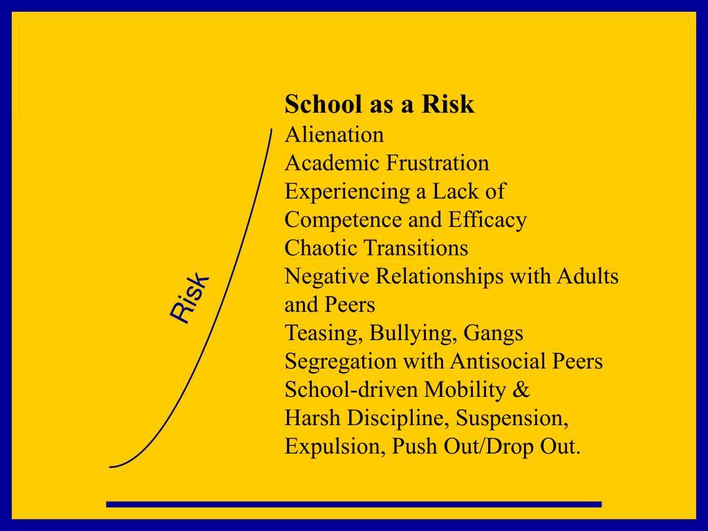 School as a Risk
