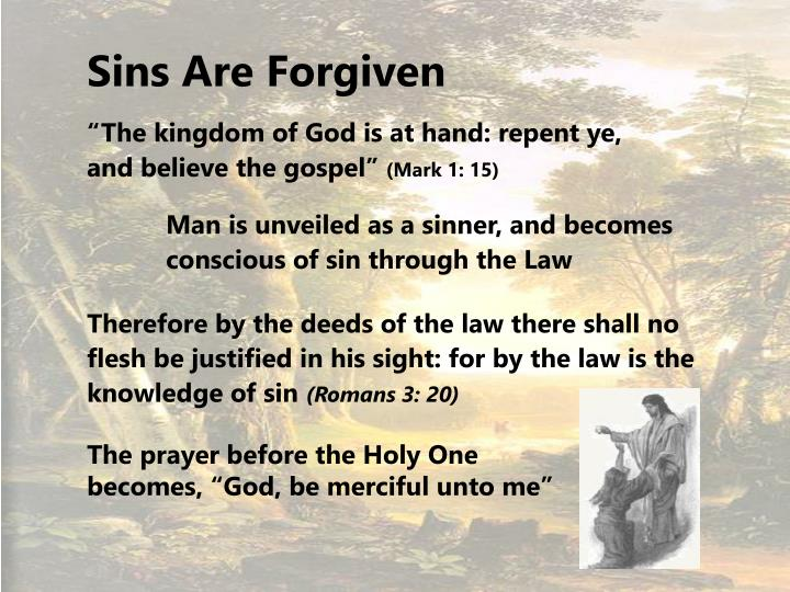 Sins Are Forgiven