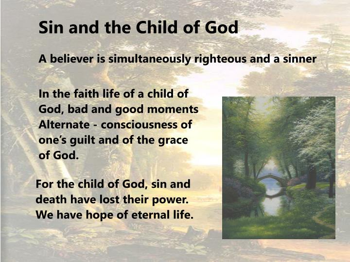 Sin and the Child of God