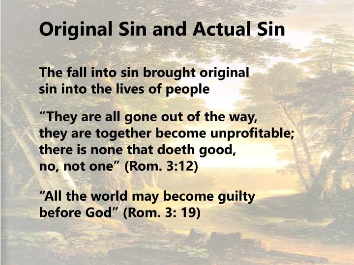 Original Sin and Actual Sin