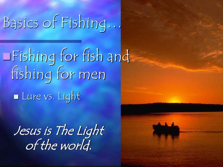 Basics of Fishing…