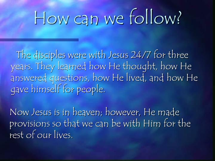 How can we follow?