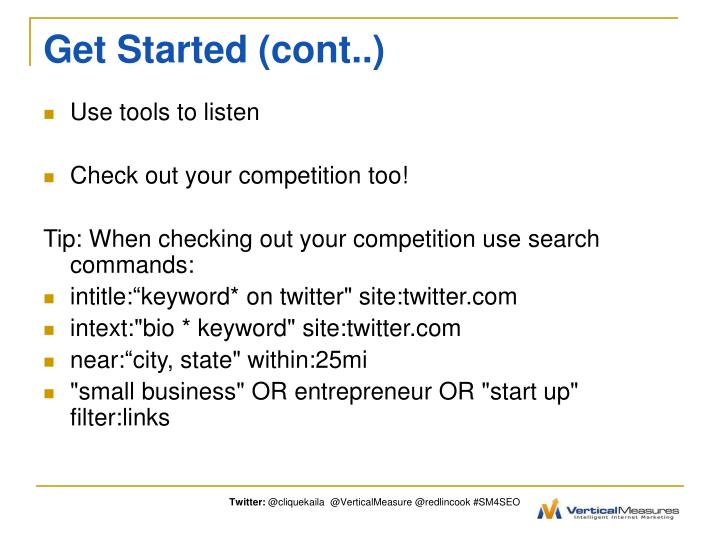 Get Started (cont..)