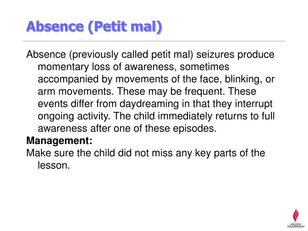 Absence (Petit mal)
