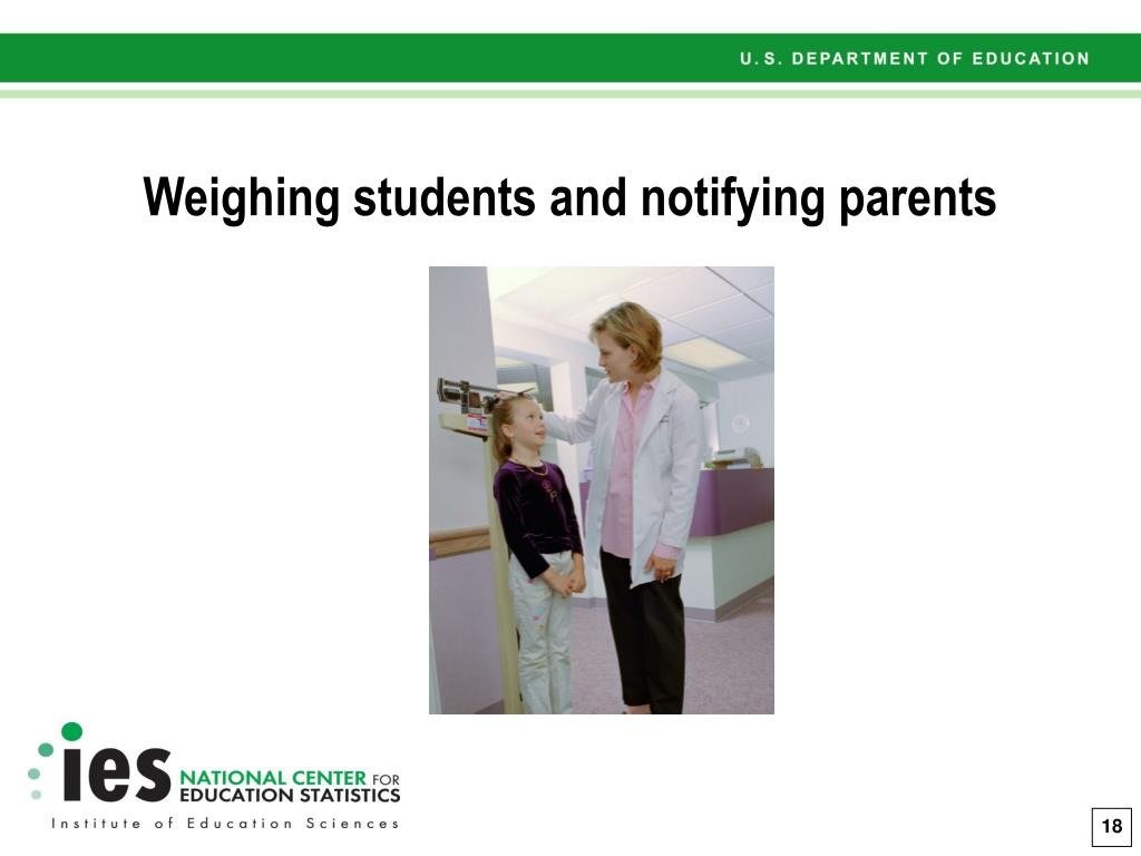 Weighing students and notifying parents