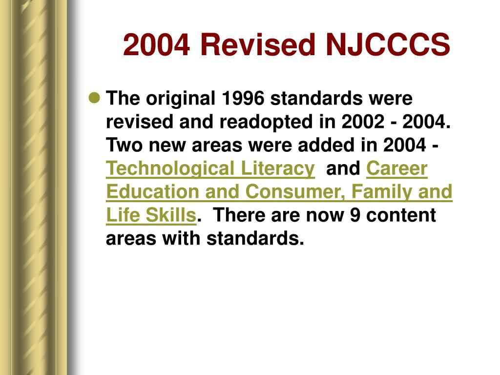2004 Revised NJCCCS