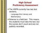 high school proficiency assessment