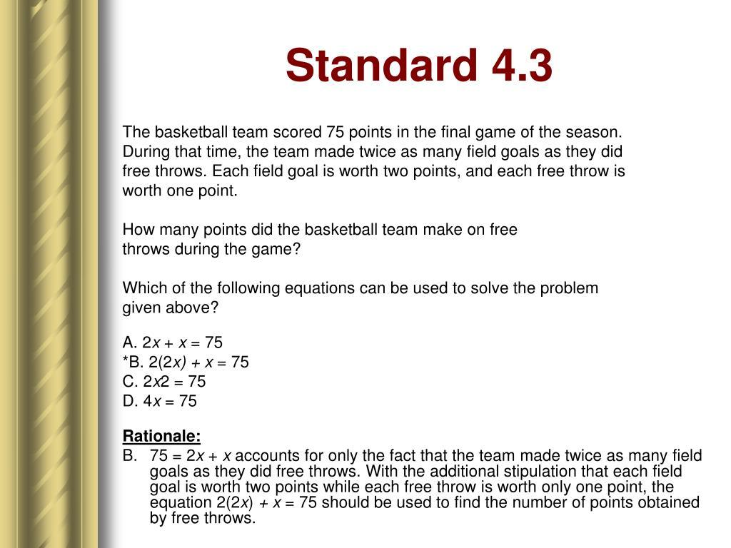 Standard 4.3