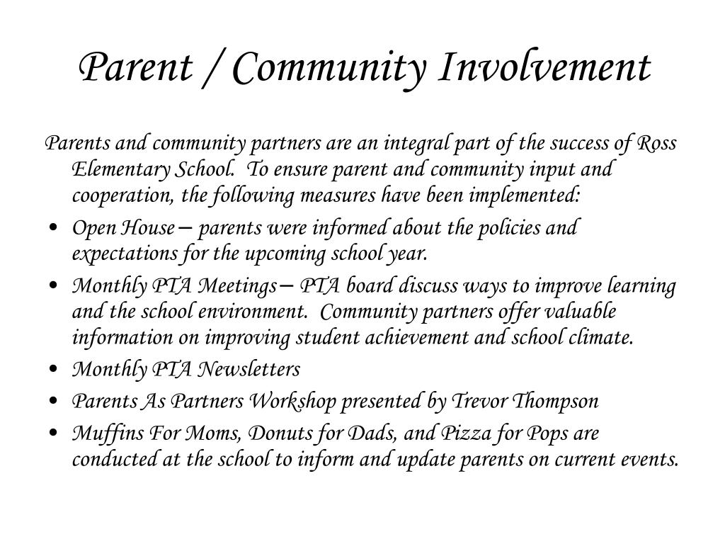 Parent / Community Involvement