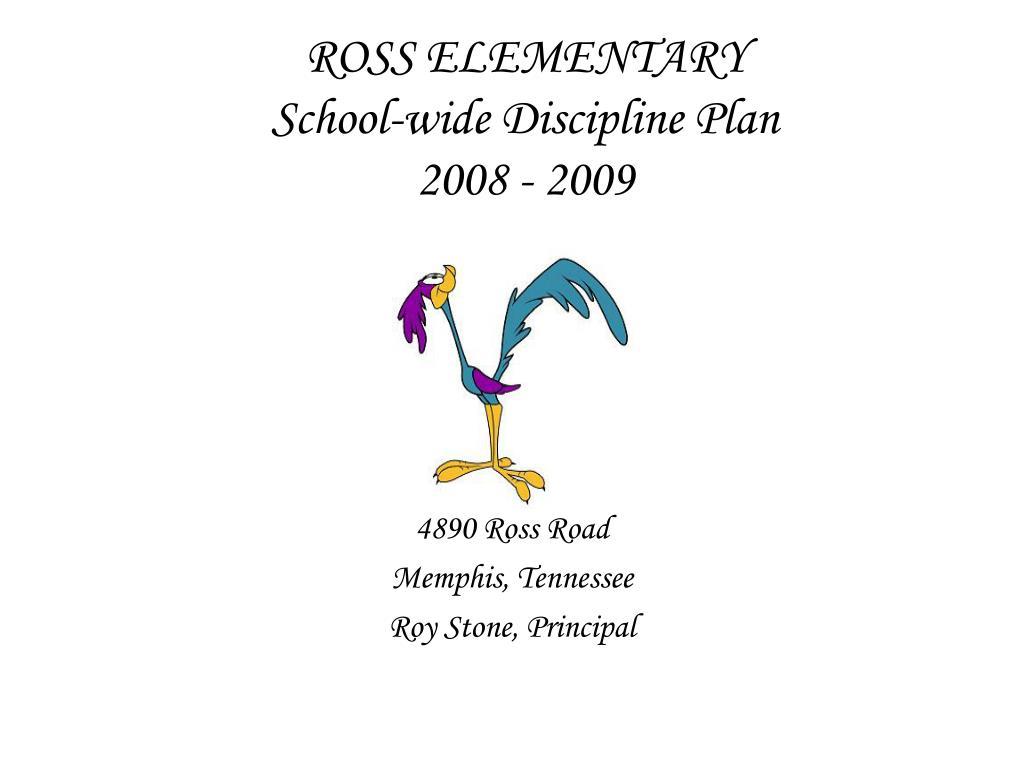 ross elementary school wide discipline plan 2008 2009