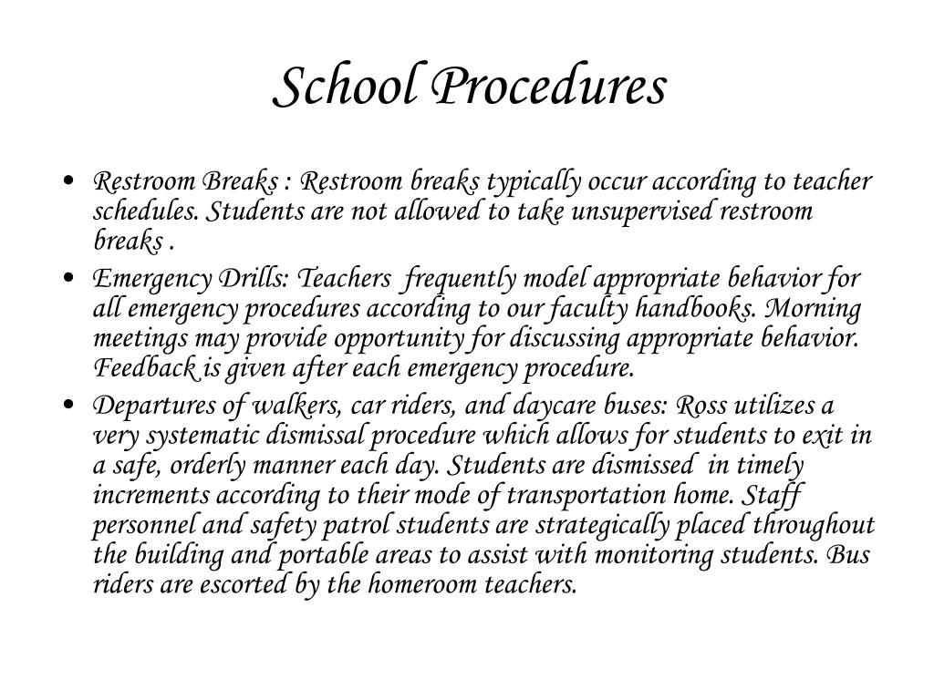 School Procedures