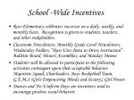 school wide incentives