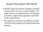 sexual harassment prevention