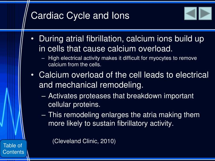 Cardiac Cycle and Ions