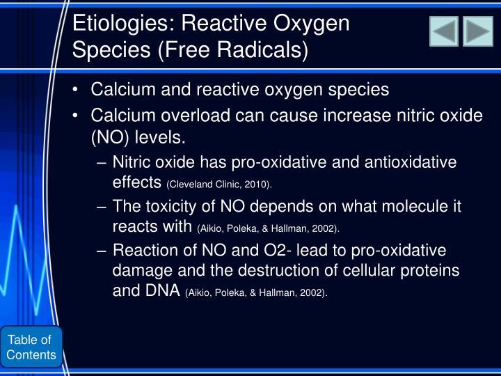 Etiologies: Reactive Oxygen Species (Free Radicals)