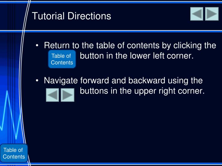 Tutorial Directions