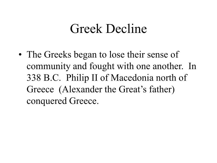 Greek Decline