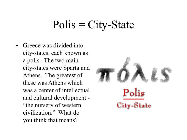 Polis = City-State