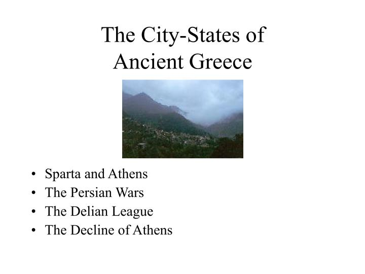 The city states of ancient greece