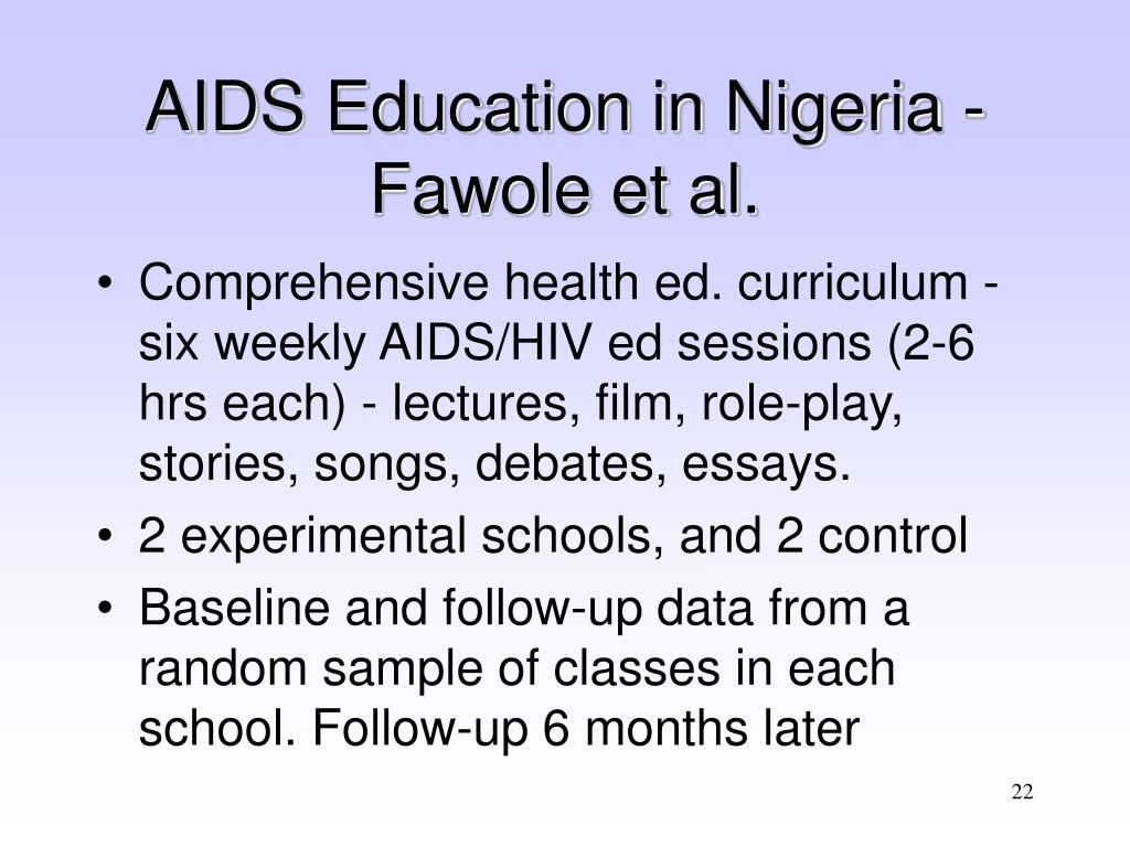 AIDS Education in Nigeria - Fawole et al.