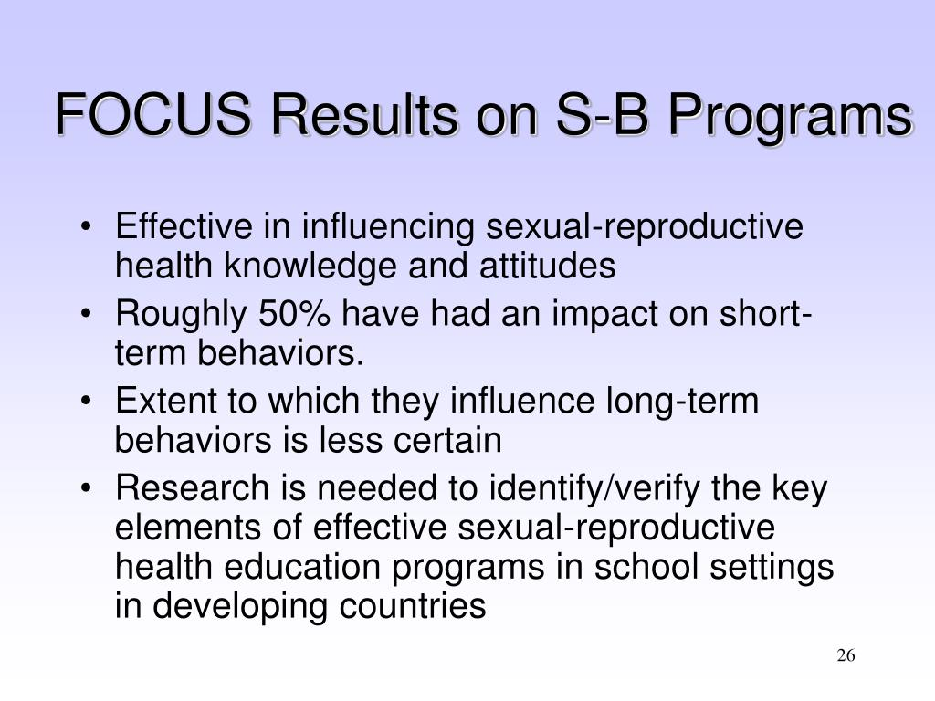 FOCUS Results on S-B Programs