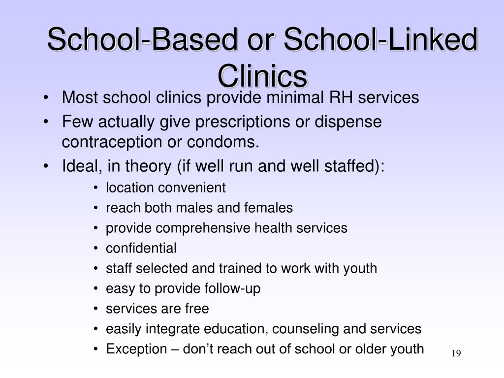 School-Based or School-Linked Clinics