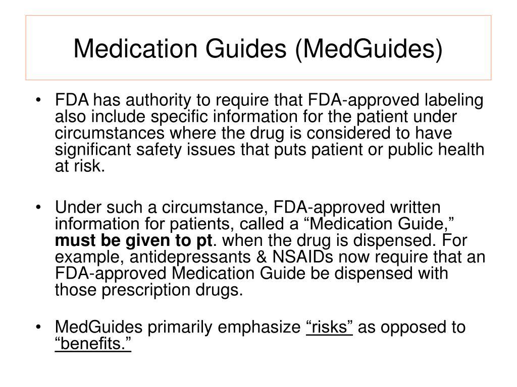 Medication Guides (MedGuides)