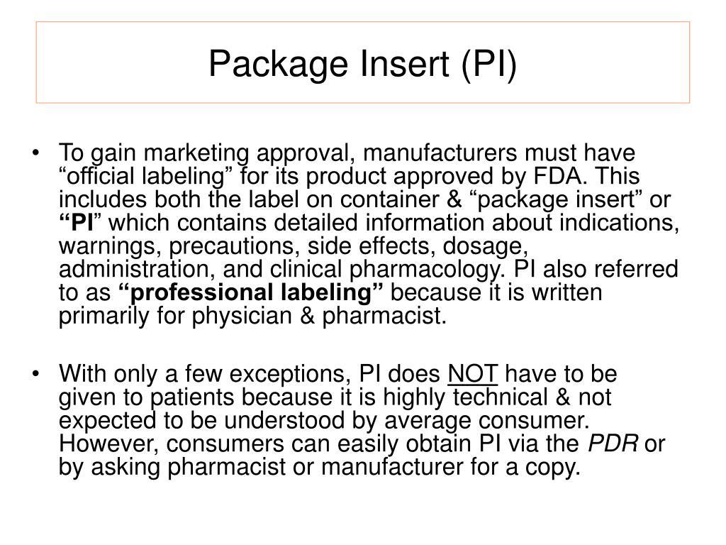 Package Insert (PI)
