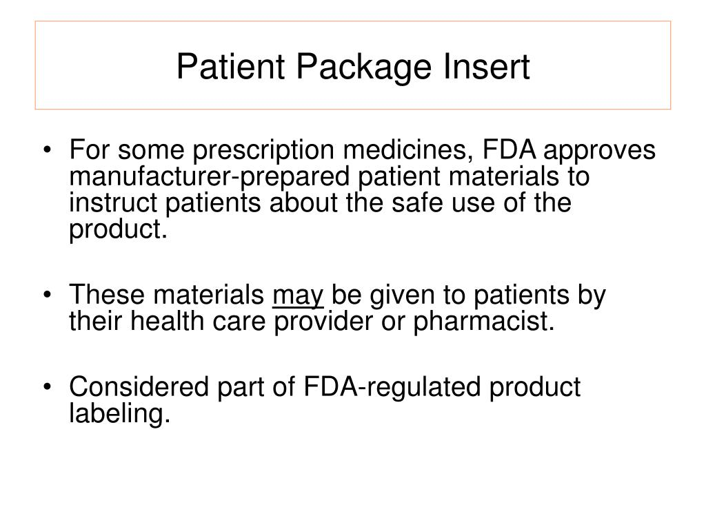 Patient Package Insert